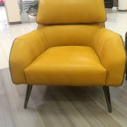 итальянское кресло Giselle желтое-2