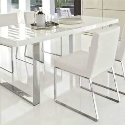 итальянский стол обеденный Steel +6 стульев