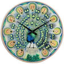 итальянские часы павлин